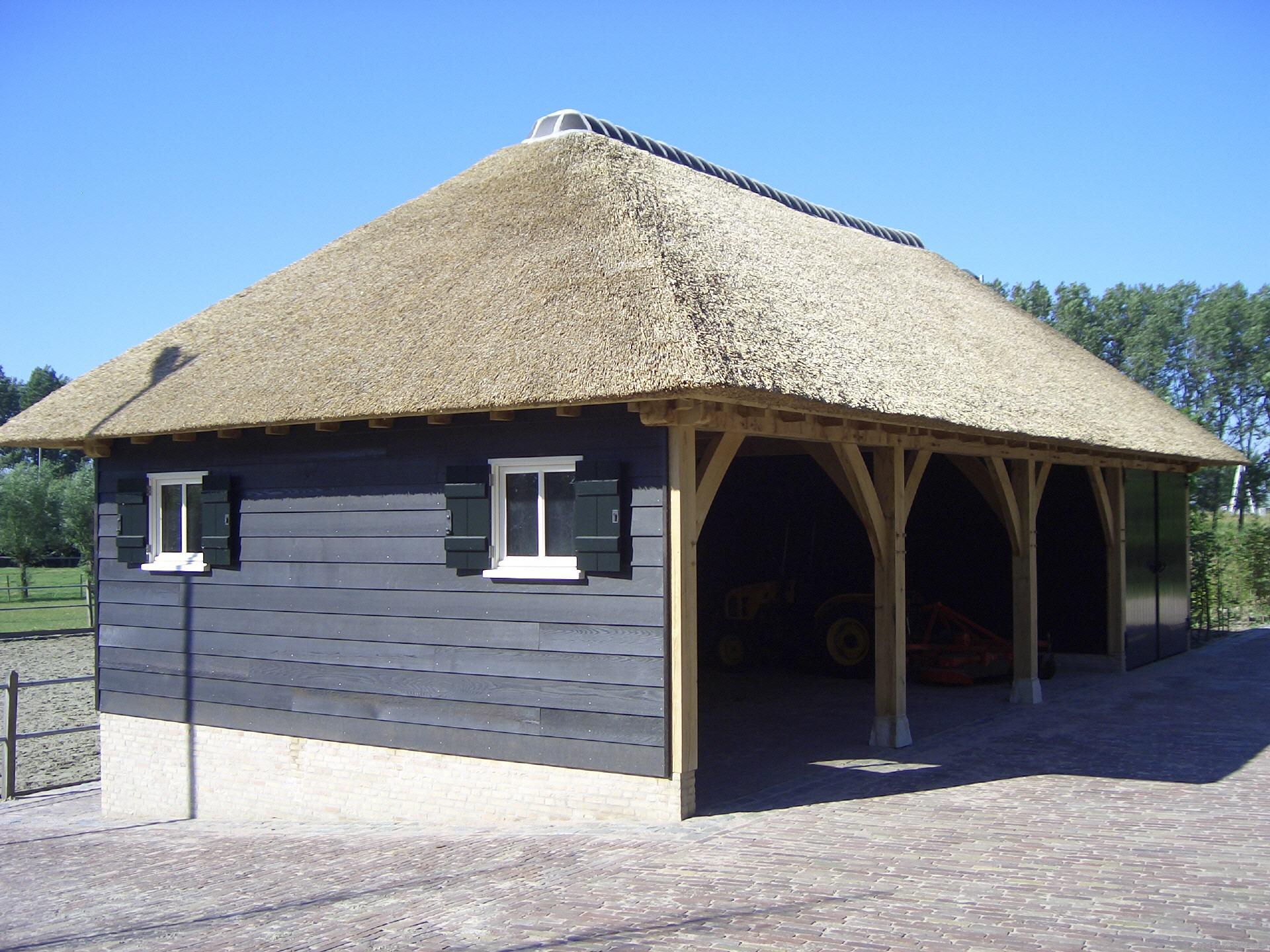 E d bouwpakketten en houtbewerking eiken bijgebouwen en eiken gebinten voor uw eiken carport - Te bouwen zijn bibliotheek ...